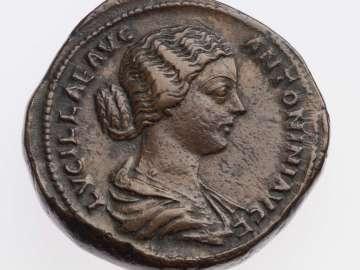 Sestertius with bust of Lucilla, struck under Marcus Aurelius