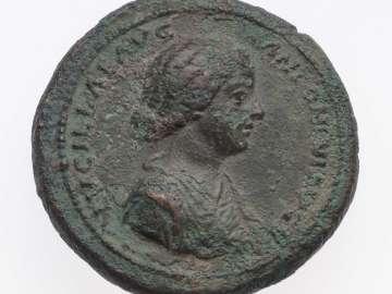Medallion with bust of Lucilla, struck under Marcus Aurelius