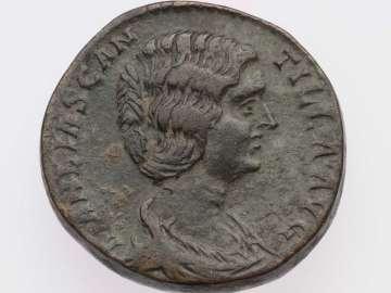 Dupondius with bust of Manlia Scantilla, struck under Didius Julianus
