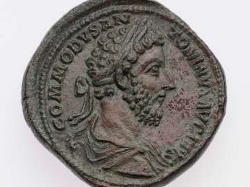 Sestertius with bust of Commodus