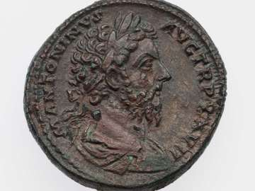 Sestertius with bust of Marcus Aurelius