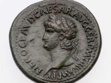 Sestertius with head of Nero