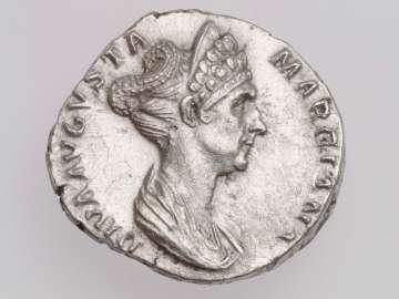 Denarius with bust of Diva Marciana, struck under Trajan