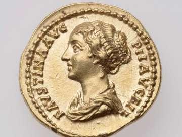 Aureus with bust of Faustina II, struck under Antoninus Pius