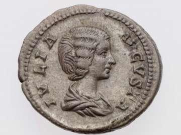 Denarius with bust of Julia Domna, struck under Septimius Severus