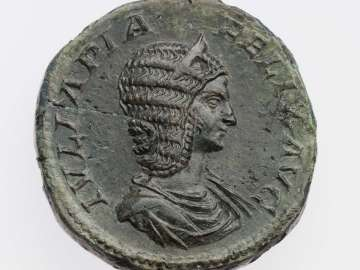 Sestertius with bust of Julia Domna, struck under Caracalla