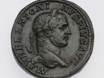 Sestertius with head of Caracalla