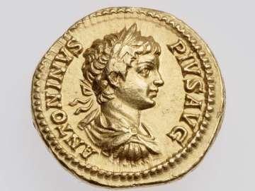 Aureus with bust of Caracalla