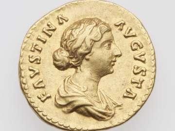 Aureus with bust of Faustina II, struck under Marcus Aurelius
