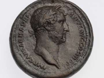 Medallion with head of Hadrian