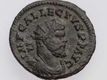 Antoninianus of British Empire with bust of Allectus