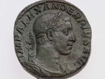 Sestertius with bust of Severus Alexander