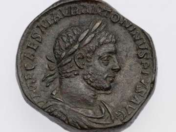Sestertius with bust of Elagabalus