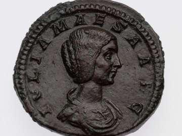 Sestertius with bust of Julia Maesa, struck under Elagabalus