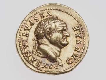 Aureus with head of Vespasian