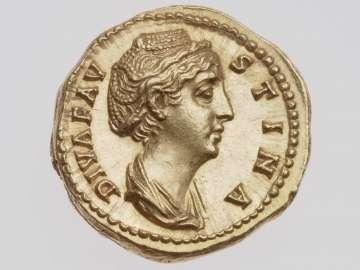 Aureus with bust of deified Faustina the Elder