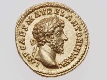 Aureus with head of Marcus Aurelius