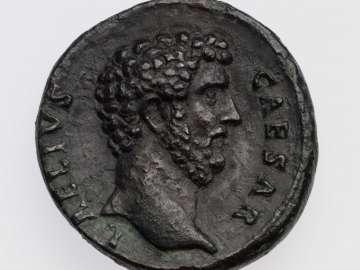 Dupondius with head of Aelius Verus, struck under Hadrian