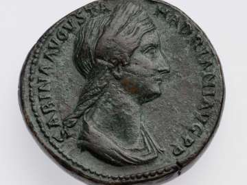 Sestertius with bust of Sabina, struck under Hadrian