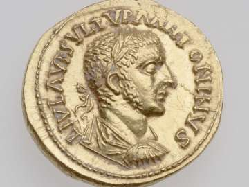 Aureus with bust of Uranius Antoninus
