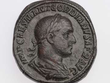 Sestertius with bust of Gordian II