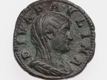 Sestertius with bust of Diva Paulina, struck under Maximinus I Thrax