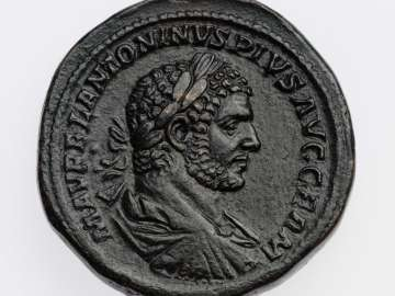 Sestertius with bust of Caracalla