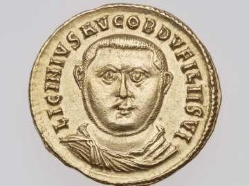 Aureus with bust of Licinius I