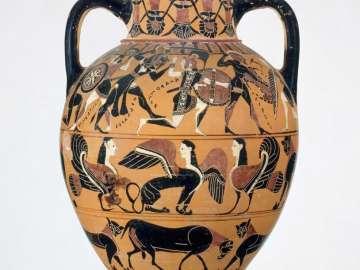Two-handled jar (Tyrrhenian neck-amphora)
