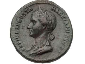 Dupondius with bust of Sabina, struck under Hadrian