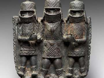 Pendant showing an Oba (King) and two dignitaries