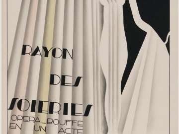 Poster for the Comic Opera, Rayon des Soieries, The Silk Counter
