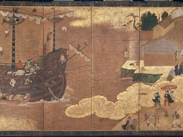 Southern Barbarians (Nanbanjin) at a Japanese Port