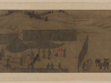 Lady Wenji's return to China: encampment in the desert