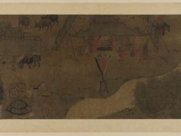 Lady Wenji's return to China: encampment by a stream
