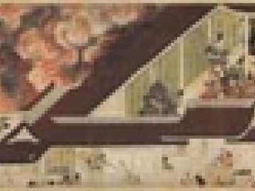 Night Attack on the Sanjô Palace, from the Illustrated Scrolls of the Events of the Heiji Era (Heiji monogatari emaki)