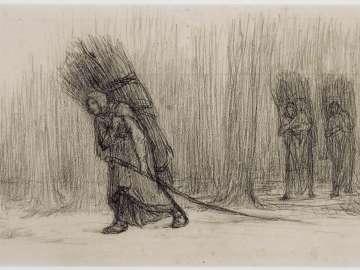 Faggot Gatherers Returning from the Forest (recto); Woman Holding Laundry. Study for Washerwomen (verso)