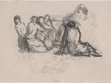 Seated Harvesters I (Sketch for Harvesters Resting)