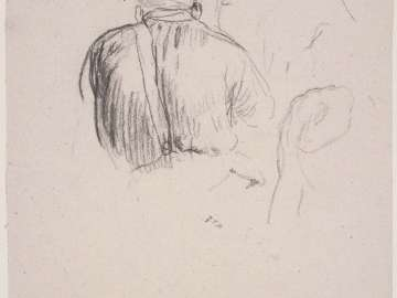 Man Seated in Foreground I (recto); Woman's Back (verso). Studies for Harvesters Resting