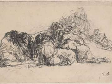 Seated Harvesters II (Sketch for Harvesters Resting)