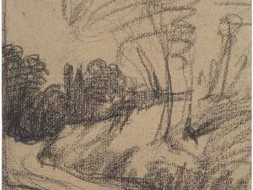 Landscape Sketch with Road