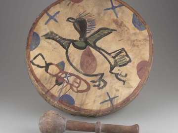 Frame drum and mallet