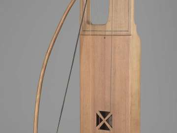 Bowed lyre (jouhikko) and bow