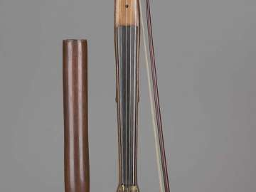 Walking stick violin and bow