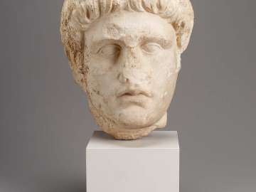 Portrait head of the Emperor Domitian (A.D. 69–98) from a relief