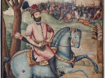 Equestrian portrait of Nadir Shah Afshar