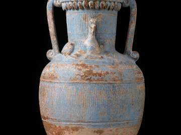 Amphora with applied decoration and lid
