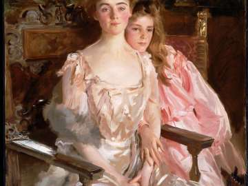 Mrs. Fiske Warren (Gretchen Osgood) and Her Daughter Rachel
