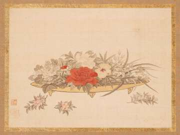 Flowers on a Lacquer Plate