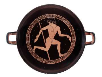 Drinking cup (kylix) depicting pentathletes
